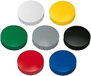 10x MAUL Haftmagnet MAULsolid Kunststoff gelb Haftkraft 0,6kg Rundmagnet Magnet