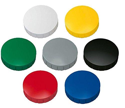 Magnete, farbig sortert Ø 32mm, Haftmagnete für Whiteboard, Kühlschrankmagnet, Magnettafel, Magnetwand, Magnet Rund (30er Pack, farbig sortiert)