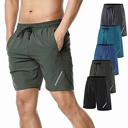 JIAYOUA Kurze Hosen Herren Jogginghose Kurze Hose mit Taschen Herren Trainingsshorts für Laufsport Männer Leicht Schnell Trocknend Jungen Jogginghose für Fitness Outdoor Sommer
