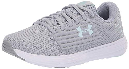 Under Armour Women's Surge Special Edition Running Shoe, Mod Gray (104)/White, 5