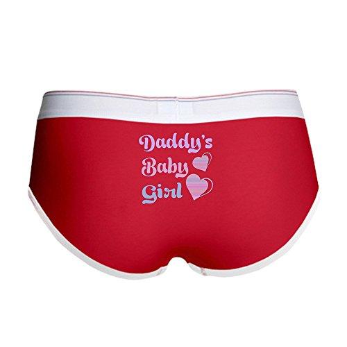 CafePress Daddy's Baby Girl Women's Boy Brief, Boyshort Panty Underwear with Novelty Design Red/White