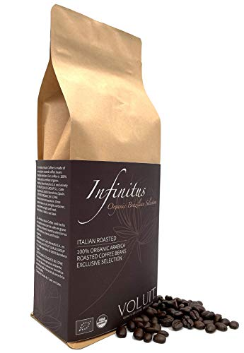 VOLUIT INFINITUS – Premium Bio Kaffeebohnen, Bio 100% Arabica Bohnen Spezialitätenkaffee, Premiumkaffee - 500gr, Bio zertifiziert | Bio Kaffeebohnen Naturbraten – 500gr…