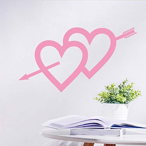 Calcomanía de vinilo con flecha de corazón de amor, extraíble, diseño de flecha de Cupido de amor, para decoración de dormitorio, sala de juegos, sala de estar, ventana de casa, decoración de puerta