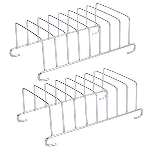 Hemoton Kit di Accessori per Friggitrice Ad Aria da 2 Pezzi in Acciaio Inossidabile per Toast Porta Pane/Supporto per Pane per Fetta di Pane