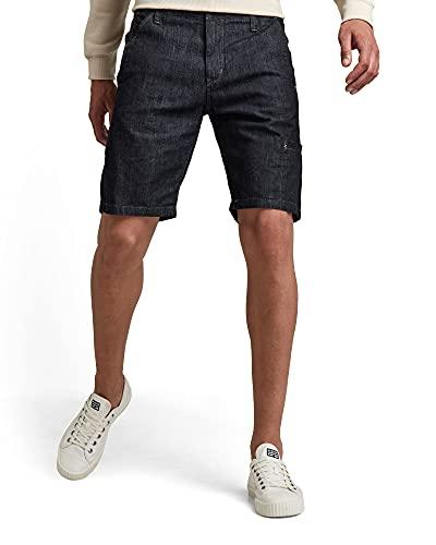 G-STAR RAW Mens Worker Poplin Straight Chino Shorts, Rinsed C653-082, 34W
