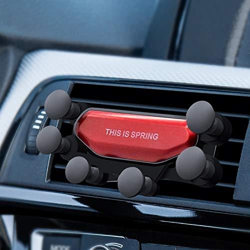 Auto Mount Telefoon Houder Auto Beugel Auto Luchtuitlaat Zesklauw Zwaartekracht Mobiele Telefoon Houder Beugel (Zwart) Geschikt voor Alle soorten Mobiele Telefoons Rood