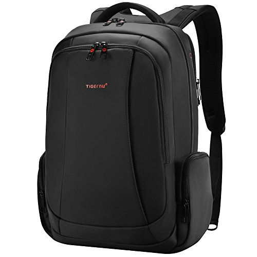 Fubevod men's 6-inch business backpack with laptop compartment, black (Black) - KT-01