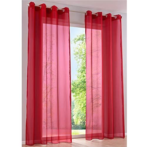 cortinas salon translucidas rojo