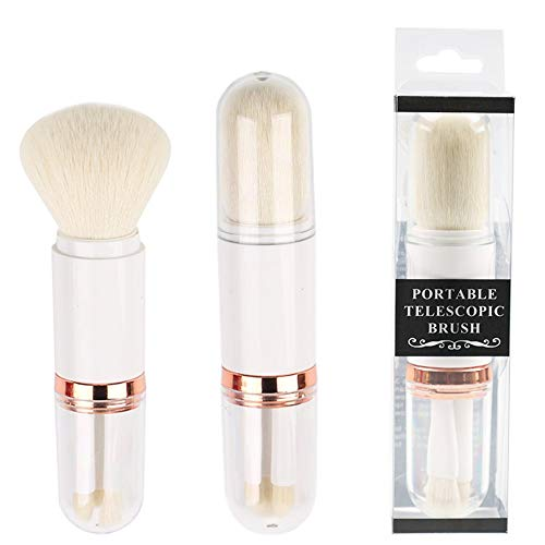 4 in1 pinceaux de maquillage rétractables professionnel simple poignée Kabuki pinceau visage doux poudre de poudre minérale Fondation fard à paupières pinceau ensemble cosmétiques constituent un outil