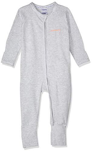 Bonds Unisex Baby Cotton Blend Zip Wondersuit Grey Stripe, 0000 (Newborn)