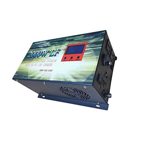 Inversor Solar 2000w 12v Onda Pura con Cargador 35Ah Convertidor 12v a 220v