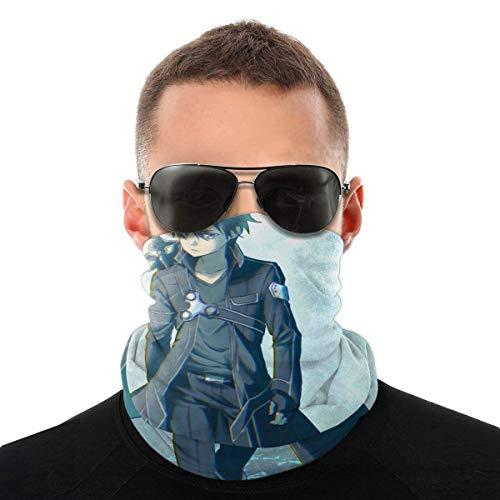 TUCBOA Windproof Face Warmers,Sword Art Online-Kirigaya Kazuto Bandana 12 En 1, Protectores Faciales A Prueba De Viento Sin Costuras para Ciclismo Deportivo,25x50cm