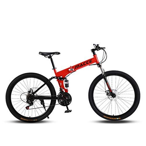 Firally Bici da Mountain Ruote 26'' Grande Ruota - Modello 6 Ruote di Taglio Assorbimento degli Urti Confortevole e Stabile - 21 velocità Variabile Massima 50 km/h