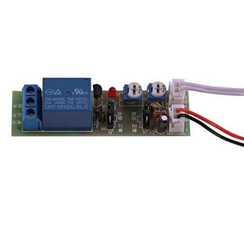 1 Stück Timer-Relaismodul 10A250VAC 10A30VDC <2% Zeitfehler Ein/Aus-Timer-Verzögerungsschaltermodul(DC5V, 0-60 min)