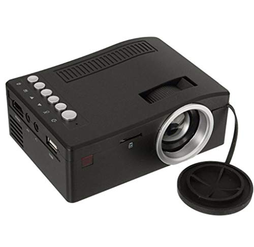 Portable Mini HD LED-Beamer Home bioscoop Movie Projector,Black