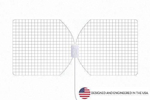 RGTech Monarch 50 Transparente - Antena Interior - Rango de recepción de 50 millas -plana, delgada como un papel-Multi direccional Antena HDTV para una máxima recepción TDT/UHF/VHF/FM/DAB/DVB-T/DVB-T2