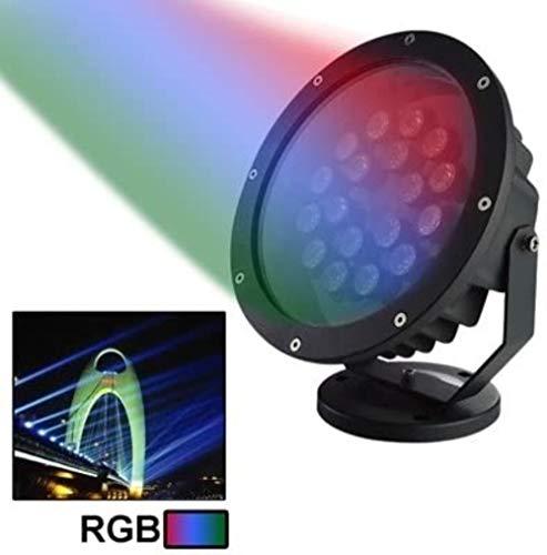 GCX - Lámpara LED de paisaje impermeable para jardín con forma de árbol, para exterior, para césped, jardín, protección para los ojos (tamaño: rojo)