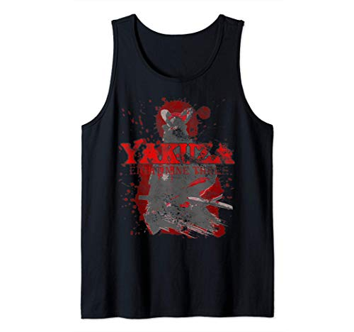 Yakuza Retro Samurai Vintage Japón Camiseta sin Mangas