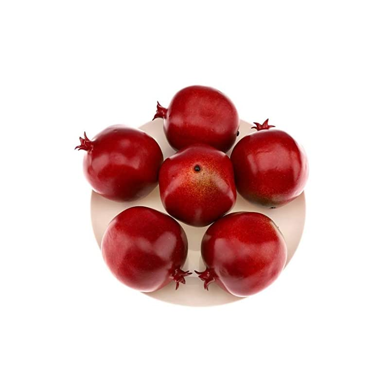 silk flower arrangements gresorth 6pcs high grade fake pomegranate decoration artificial realistic fruit simulation for home party holiday christmas display