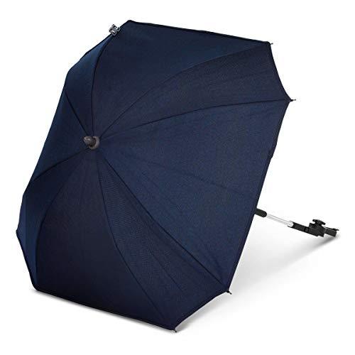 ABC Design Universal Sonnenschirm Sunny Diamond Edition – für Kinderwagen und Buggy – UV-Schutz 50+ – Universalhalterung für Rund- und Ovalrohre – Farbe: navy