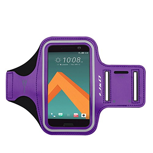 HTC 10 Brazalete, J&D Brazalete Deportivo para HTC 10, Ranura para Llaves, Conexión Auriculares Mientras Ejercicios y Carreras