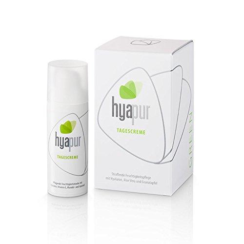 hyapur® - GREEN Tagescreme 50ml - Die natürliche Tagespflege zur Anti-Aging-Pflege mit Bio- Vegan- Natur- Kosmetik aus Berlin