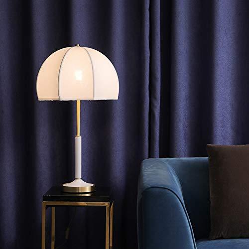 Preisvergleich Produktbild Xssbhsm Tischlampen für Schlafzimmer New Einfache Stoff Tischlampe Hotel Fine Copper Study Nachttischlampe Nordic Light Beauty Style Tischleuchte (Lampshade Color : White)