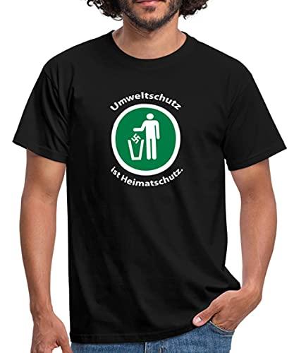 Storch Heinar Heimatschutz Männer T-Shirt, XL, Schwarz