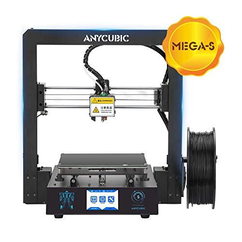 ANYCUBIC Stampante 3D i3 Mega-S Dimensioni di stampa 210 x 210 x 205mm equipaggiata con piatto di stampa Ultrabase e Display Touchscreen da 3,5 per TPU PLA (Mega-S)