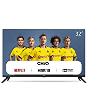 CHiQ L32H7N HD Smart TV, 32 inch, WiFi, Netflix, Youtube, Prime Video, Facebook, HDR, DVB-T2 / C / S2, frameloos ontwerp