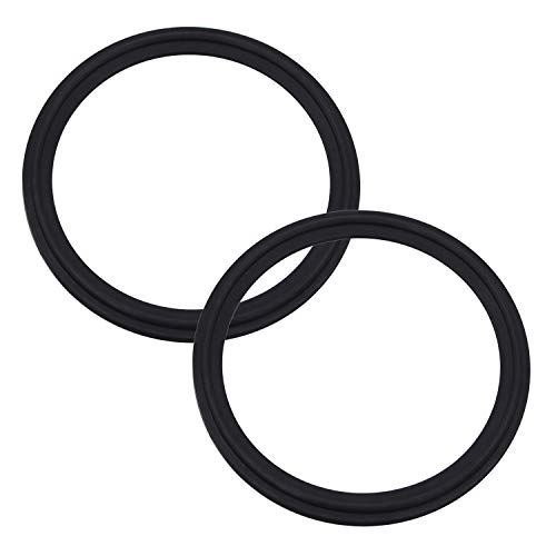 DERNORD 3 Inch FKM Rubber Gasket Tri-clamp O-Ring Fits Sanitary Tri-clover Type Ferrule ( Pack of 2 )