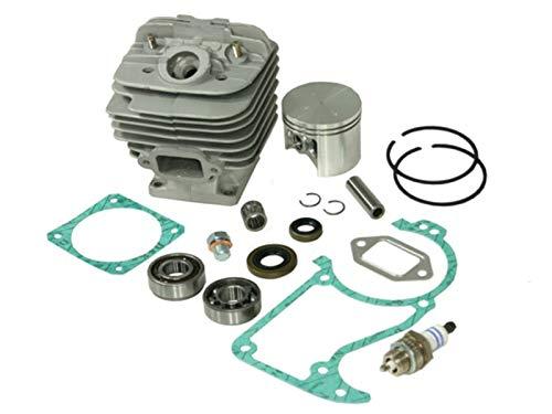 Sägenspezi Zylinder Kolben Set passend für Stihl 034 AV Super MS340 48mm inkl. Dichtsatz, Zündkerze, Kurbelwellenlager und Kolbenbolzenlager