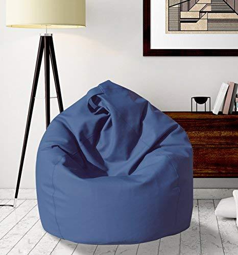 13Casa Dea Poltrona a Sacco, finta pelle, Blu, 70 x 110 cm