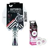Butterfly Timo Boll Vision 3000 Tischtennisschläger + 3*** ITTF R40+ Tischtennisbälle   Tischtennisschlägerset   Tischtennis Profi Set