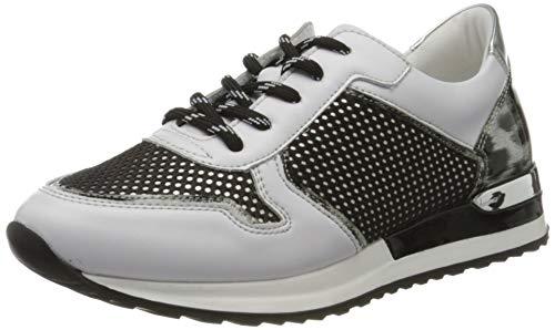 Remonte Damen R2512 Sneaker, Weiß (Weiss/Schwarz-Weiss/Argento/Schwarz 81), 39 EU