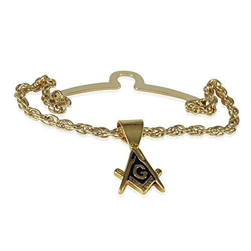 Cuff-Daddy Freemason Masonic Tie Chain with Presentation Box for Masonic Jewelry for Women Masonic Accessories Tie Chains for Men