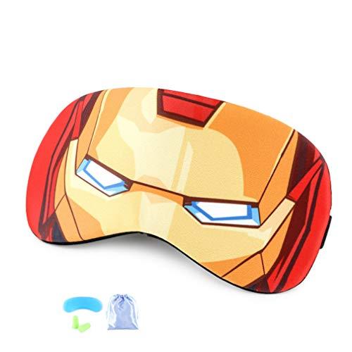 Masque de yeux Iron Man Masque de Sommeil pour enfants Masque pour les yeux respirant Eyeshade Cover Bandeau avec Gel Pad