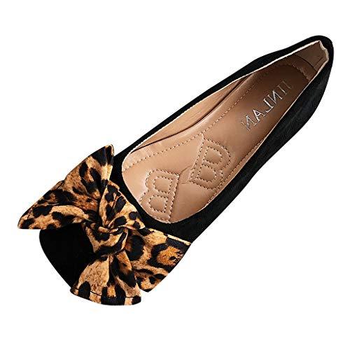 Jodier Zapatos de Mujer Zapatos de Otoño nuevos versátiles Fondo Plano Leopardo...
