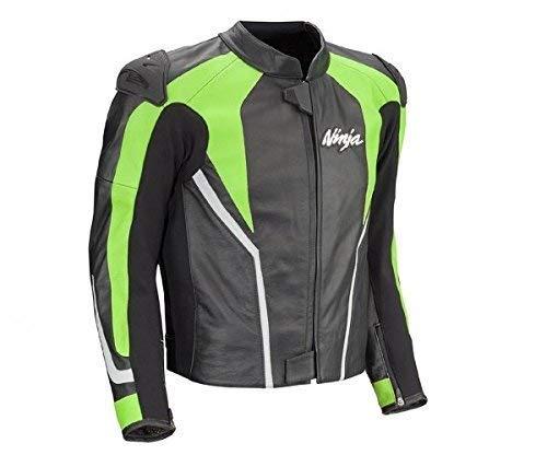 Kawasaki Ninja Lederjacke schwarz/grün Größe 2XL