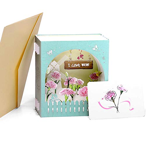Paper Spiritz Pop up Mother's Day Boxes Cards, 3d Mothers Day Cards, Birthday, I Love Mom with Envelope, Gift Box Card for Mommy Wife Mum Mother
