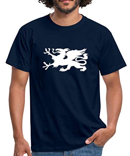Hansestadt Rostock HRO Stadtwappen Männer T-Shirt, L, Navy