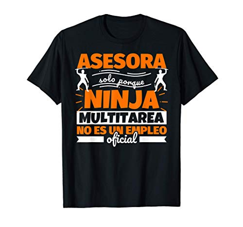 Asesora regalo divertido ninja Camiseta