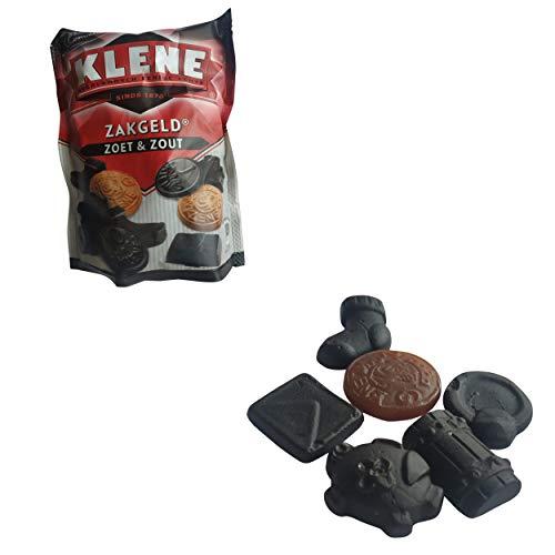 Klene Zakgeld Drop Zoet & Zout / Gemischte Tüte Süß und salzige Lakritz aus Holland 250g