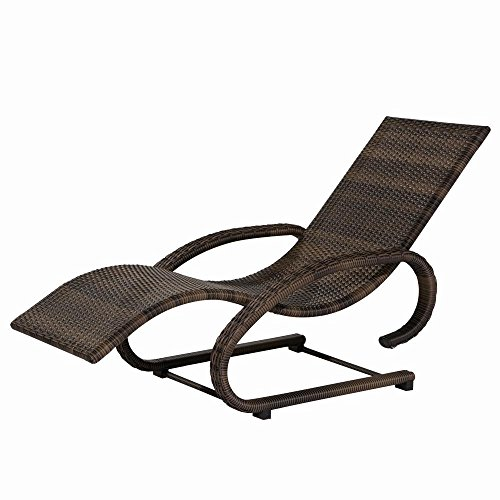 Siena Garden 497738 Rio Chaise Longue Swing Aluminium Marron