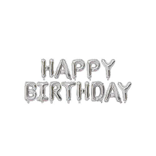 Hanging Ballons| Silver 1st Birthday Banner Number Foil Balloons Kids Birthday Decoration Baby Shower Ballons Wedding Event Party Supplies-Birthday Ballon-