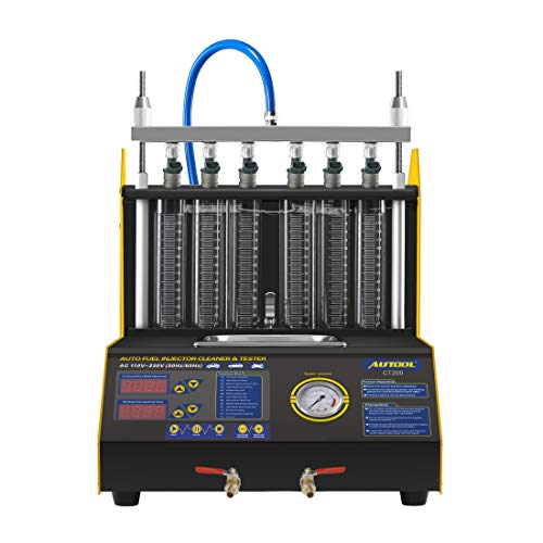 AUTOOL CT-200 Ultrasonic Fuel Injector Cleaner Tester  6 Cylinder Fuel Injection Leakage/Blocking Testing Machine Tool Kit 110V/220V