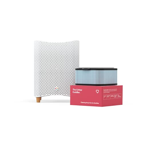 """Mila HEPA and Carbon Air Purifier Filters Pet Dander, VOCs, Smoke, Allergens, Dust, Mold, & Pollution—350 CADR, 790 sq ft Coverage, 12""""x12""""x15"""", Critter Cuddler Filter"""