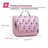 Mountaintop Kulturbeutel Kosmetiktasche Kulturtasche zum Aufhängen Toiletry Bag Waschtasche für Reise Urlaub, 24 x 9 x 19 cm (B - Pale Pink (L)) - 6