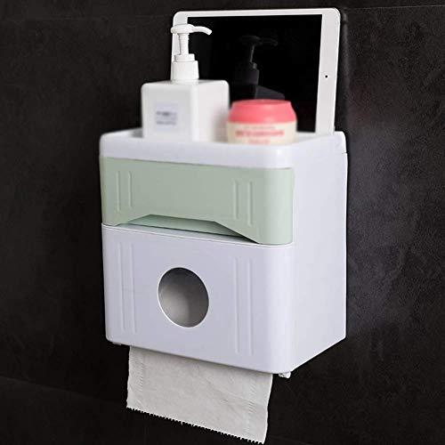 Bad Tissue Box Multifunctionele bewaardoos Punschfrei papieren handdoekhouder WC, groen