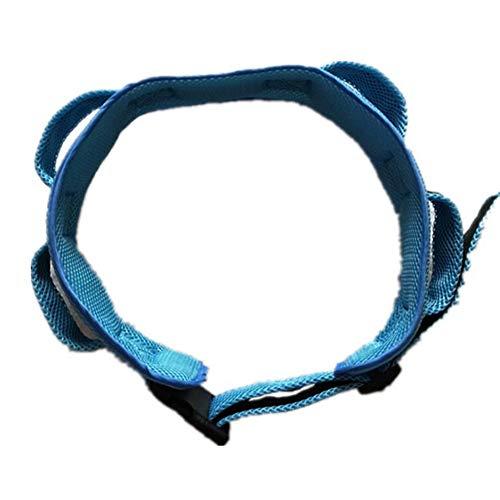 Transfer Ganggurt Mit 4 Griffen, Für Ältere Menschen Gehsicherheits Hebegurt Rollstuhl Und Bettpflegeboard Hilfsvorrichtung,Blau